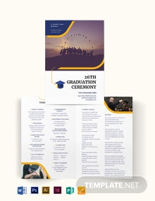 Graduation Bi-Fold Brochure Template