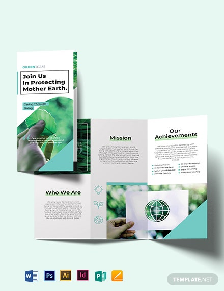 Green Tri-Fold Brochure Template