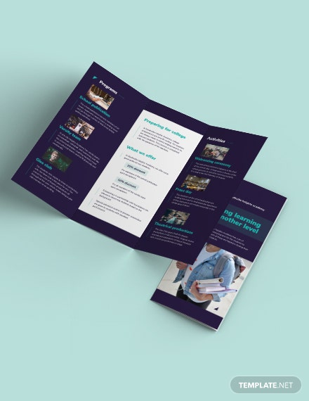 High School Tri-Fold Brochure Template