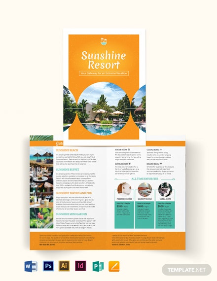 holiday bi fold brochure