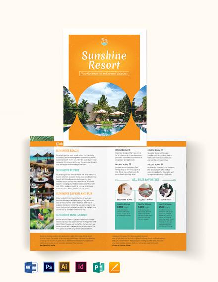 Holiday Bi-Fold Brochure Template