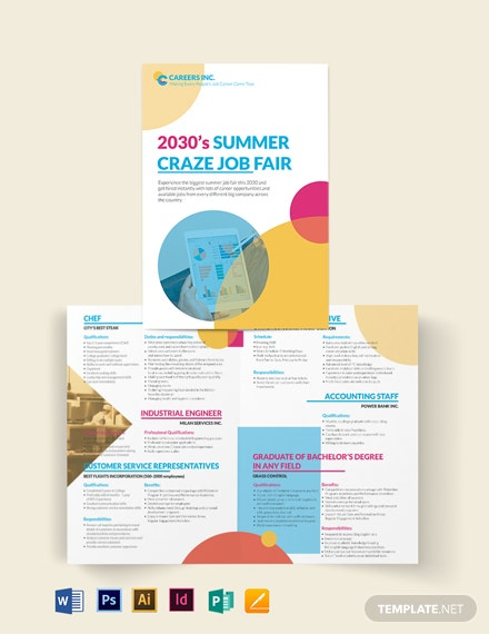 job fair bi fold brochure