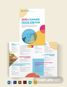 Job Fair Bi-Fold Brochure Template