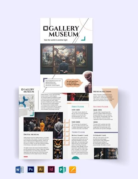 Museum Bi-Fold Brochure Template