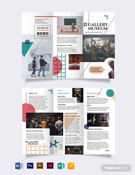 museum tri fold brochure