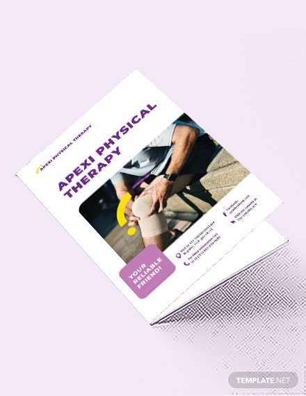 Physical Therapy Bi-Fold Brochure Template