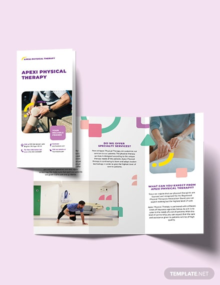physical therapy tri fold brochure