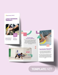 Physical Therapy Tri-Fold Brochure Template