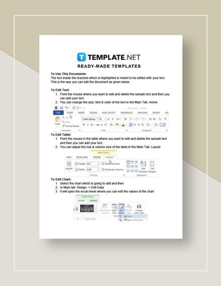 Bill Spreadsheet Instructions