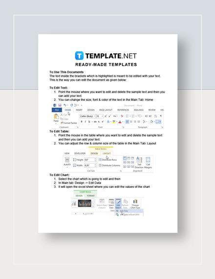 Budget Sheet Instructions