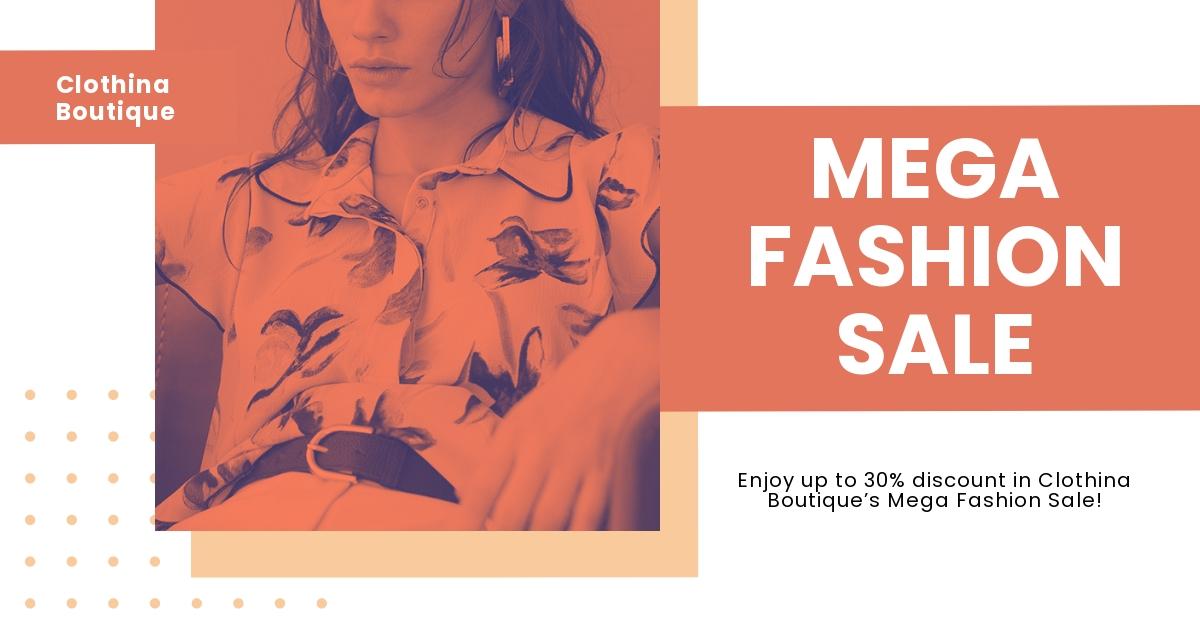 Free Minimalistic Fashion Sale Facebook Post Template.jpe