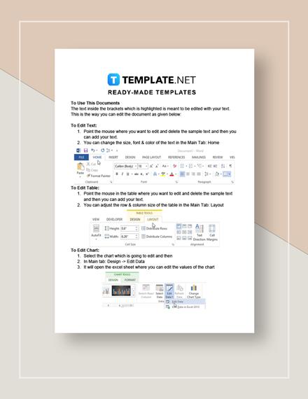 Budget Worksheet Form Instructions