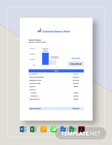 Corporate Balance Sheet Template