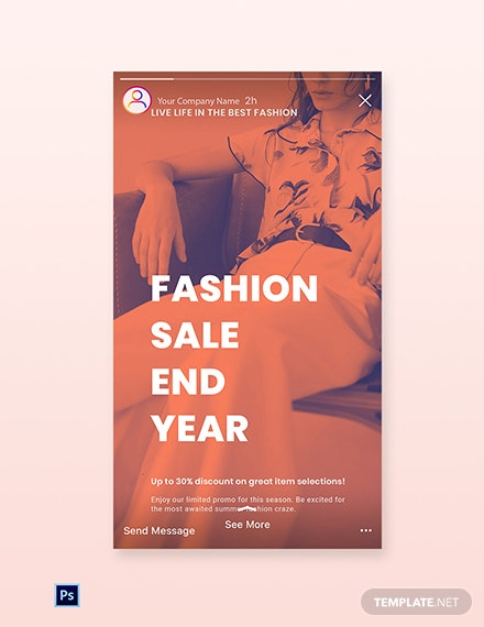 Free Minimalistic Fashion Sale Instagram Story Template