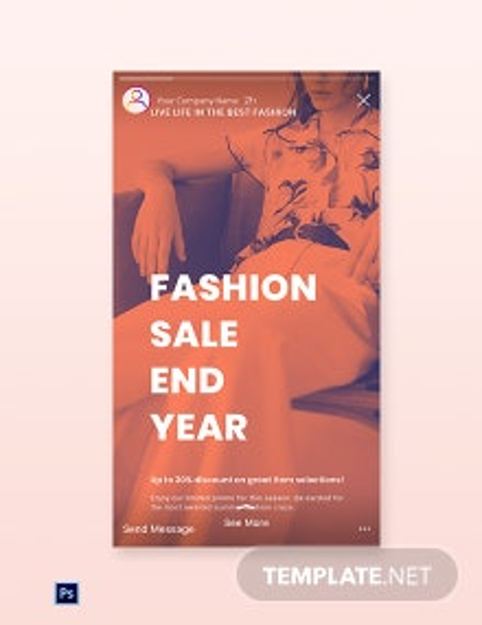 Free Minimalistic Fashion Sale Instagram Story Template