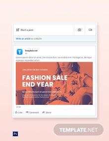 Free Minimalistic Fashion Sale LinkedIn Blog Post Template