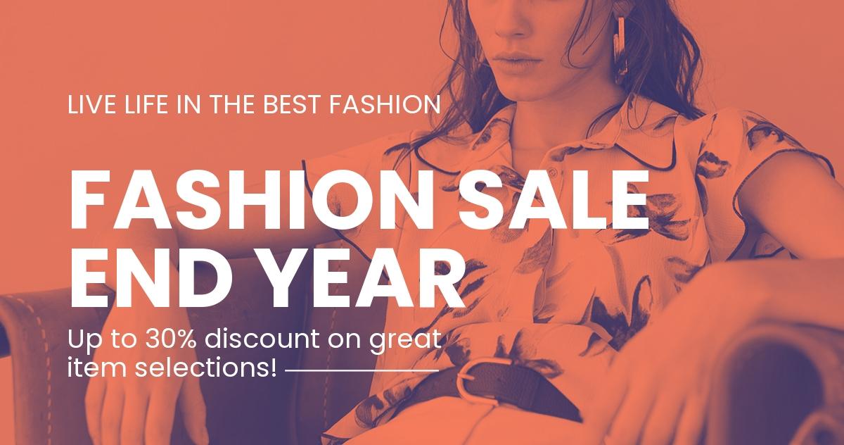 Minimalistic Fashion Sale LinkedIn Blog Post Template.jpe