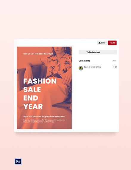 Free Minimalistic Fashion Sale Pinterest Pin Template