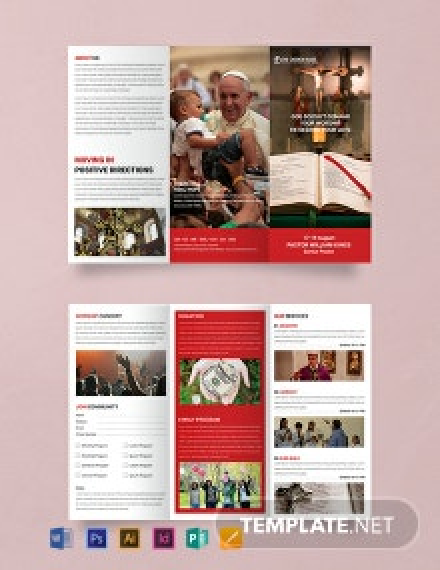 Free A3 Sample Church Brochure Template
