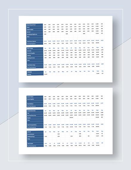 Family Budget Worksheet Download