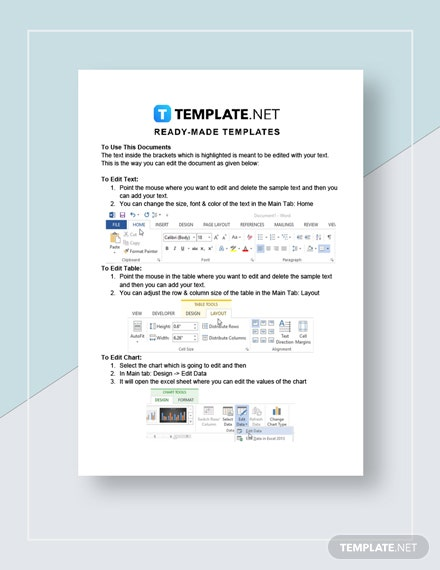 Financial Worksheet Instructions