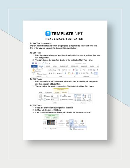 Holiday Potluck Signup Sheet Instructions