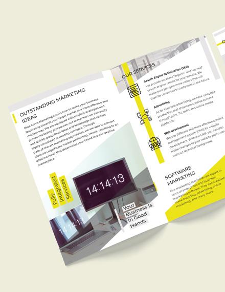 Edit Marketing BiFold Brochure Template