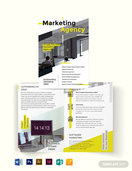 marketing bi fold brochure