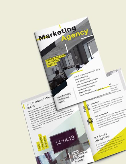 Sample Marketing BiFold Brochure Template
