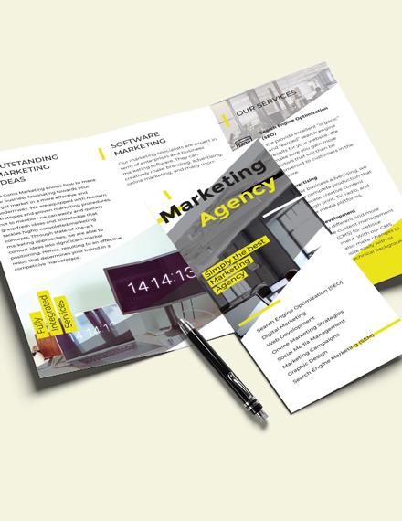 Editable Marketing TriFold Brochure Template