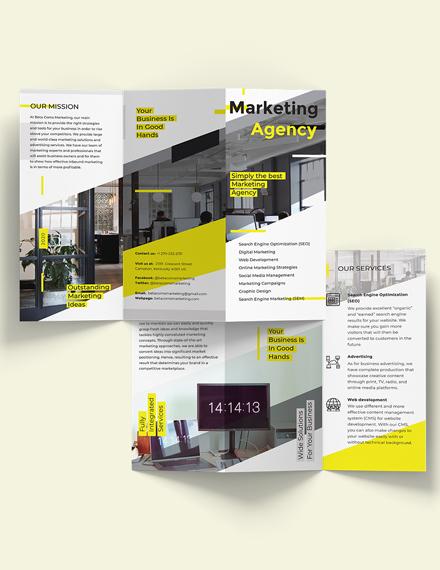Sample Marketing TriFold Brochure Template