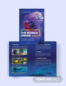 Aquarium Bi-Fold Brochure Template