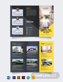 Real Estate Company Tri-Fold Brochure Template