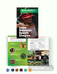 Sports Event Bi-Fold Brochure Template
