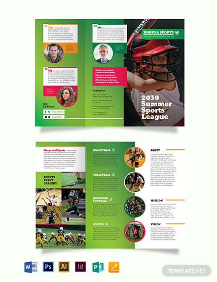 Sports Event Tri-Fold Brochure Template