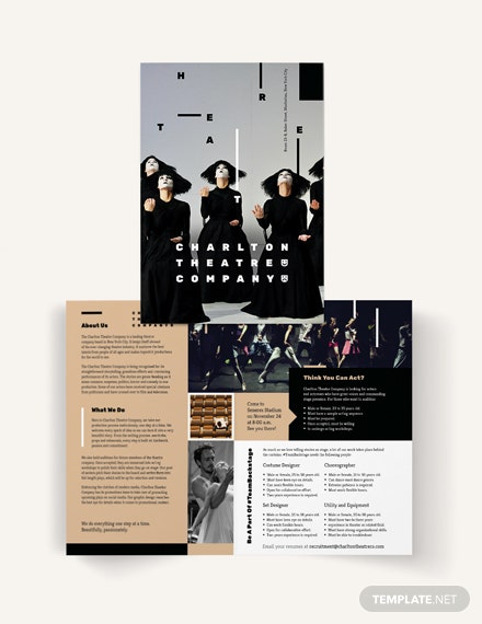 Theatre Bi-Fold Brochure Template