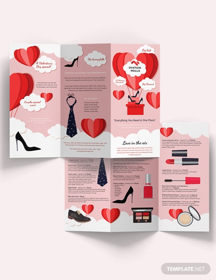 Valentines Day TriFold Brochure Edit