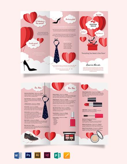 valentines day tri fold brochure