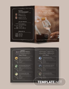 Wine Bi-Fold Brochure Template