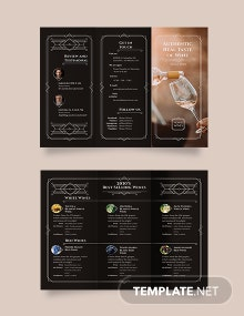 Wine Tri-Fold Brochure Template