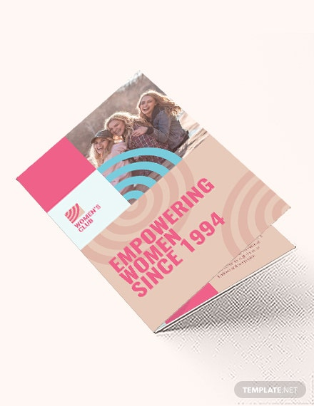 Womens Day Bi-Fold Brochure Template