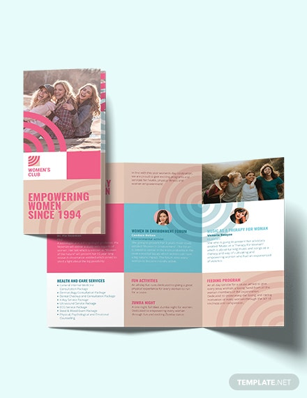women s day tri fold brochure