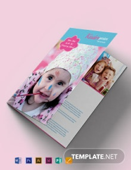 Free Kindergarten Bi-Fold Brochure Template
