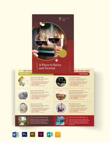 Wine Country Hotel Bi-Fold Brochure Template
