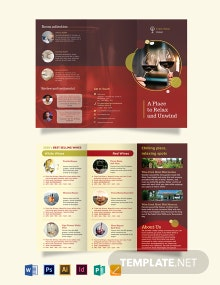 Wine Country Hotel Tri-Fold Brochure Template