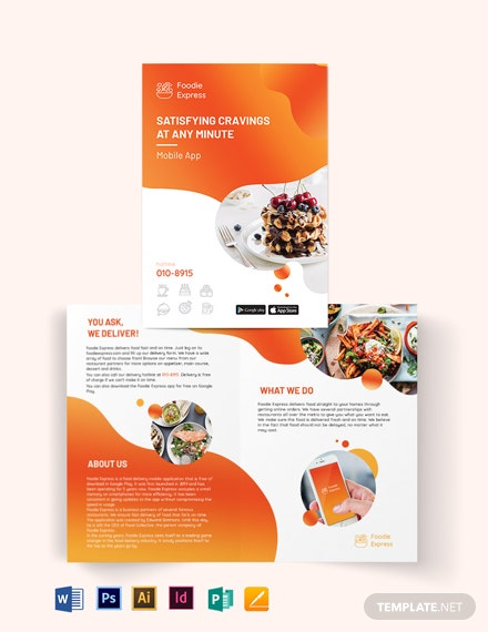 Mobile App Bi-Fold Brochure Template