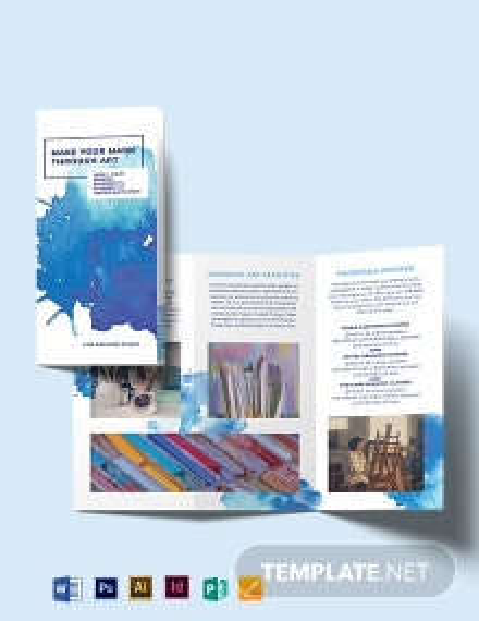 Watercolour Tri-Fold Brochure Template