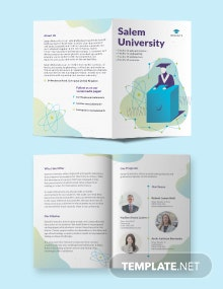 University Bi-Fold Brochure Template