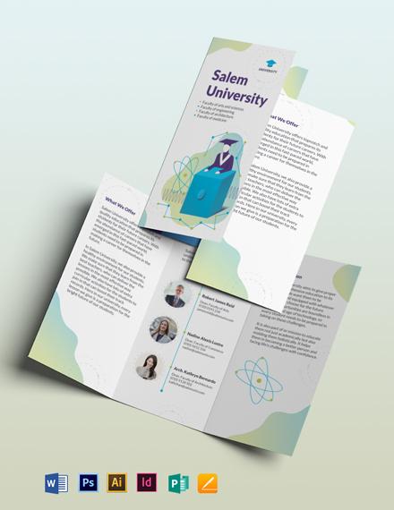 University Tri-Fold Brochure Template
