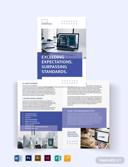IT Bi-Fold Brochure Template